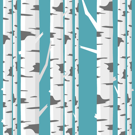 Birch trunks forest Vector Illustration