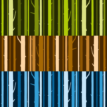 Birch trunks forest with. Vector Illustration