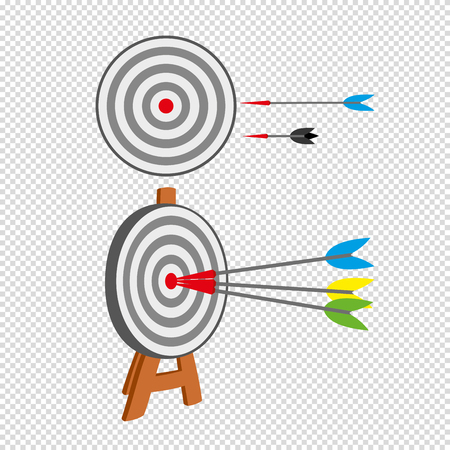 Target vector icon in a flat style Illustration