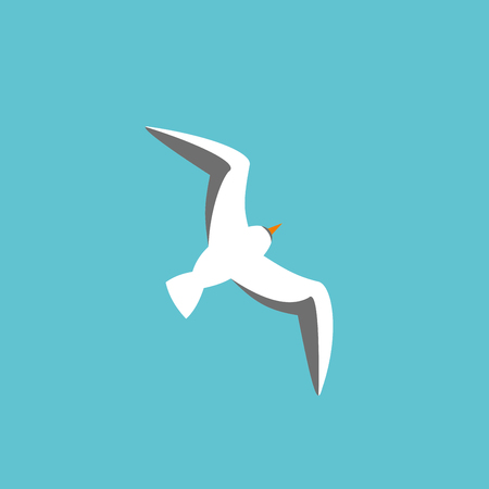 Seagull Editable vector flat illustration top view 版權商用圖片 - 85274342