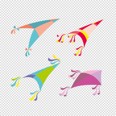 Vector illustration of colorful kite Illustration