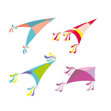 Vector illustration of colorful kite Illustration