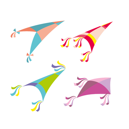 Vector illustration of colorful kite Ilustração