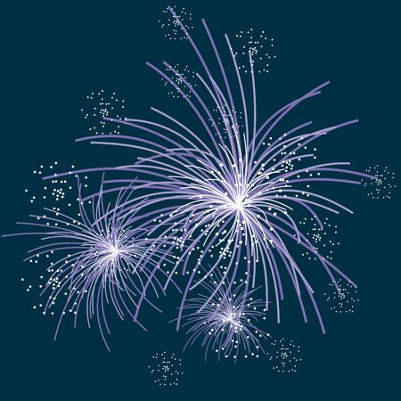 Fireworks illustration Illustration