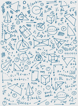 Pattern on the theme of learning with formulas and graphs.