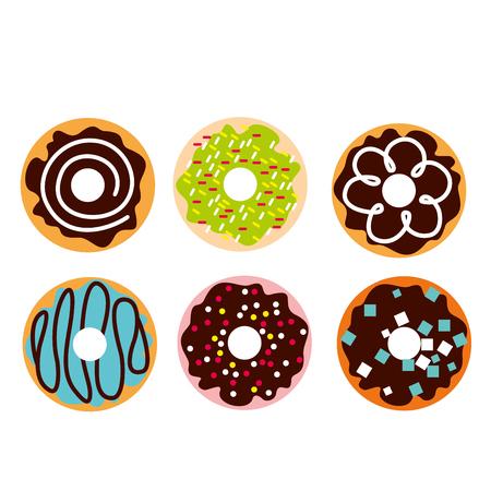 Cute doughnut vector illustration