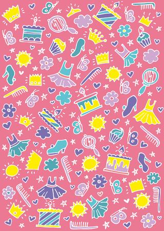 Princess. typography background design. Vector Illustration.