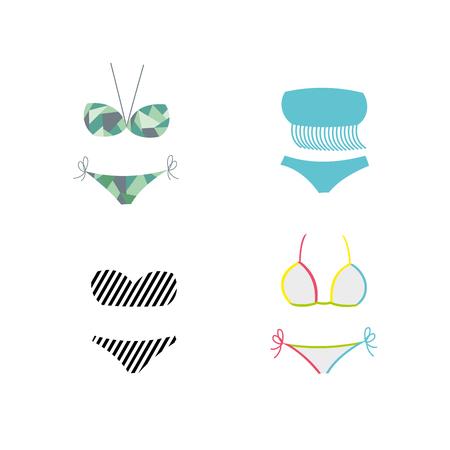 Mannequin in swimsuit. Vector Illustration. eps10