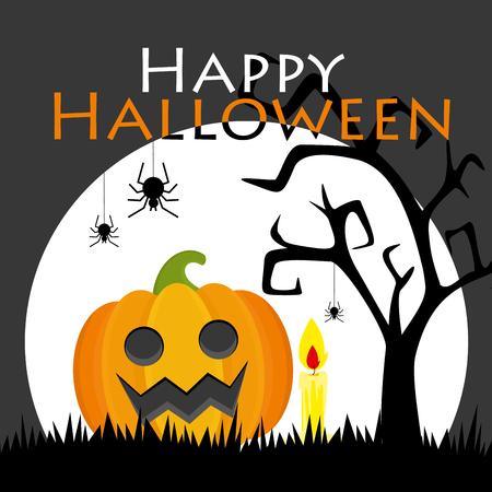 Halloween card. Vector illustration