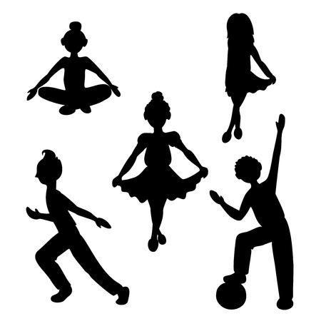 A silhouette of sportsmen. Vector Illustration 版權商用圖片 - 86582874