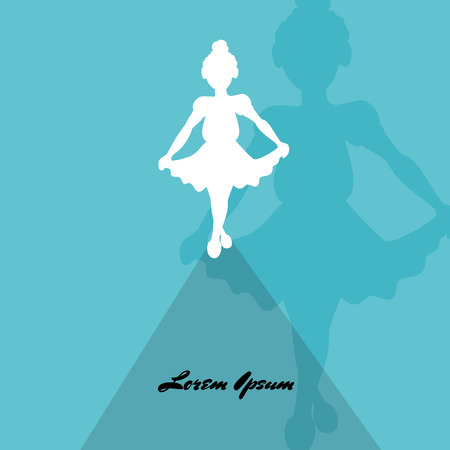 A sketch of girls ballerina standing in a pose. Vector Illustration 向量圖像