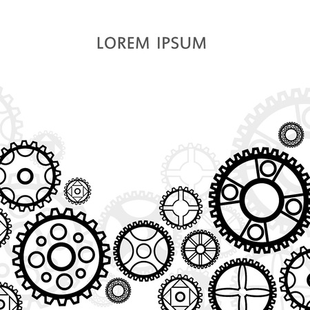 Gear and cogwheel icon. Vector illustration