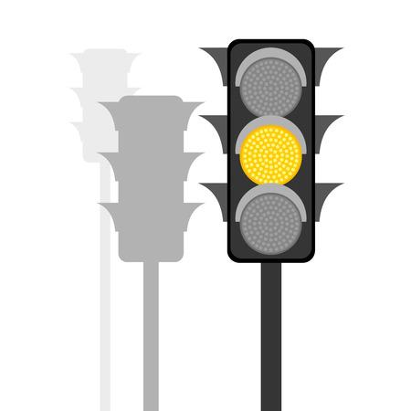 Traffic lights. Vector illustration Illustration