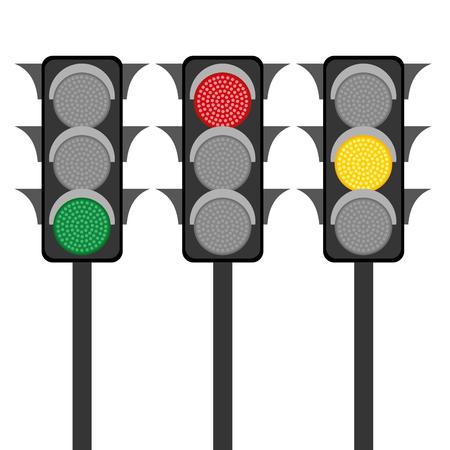 stop and go light: Traffic lights. Vector illustration Illustration