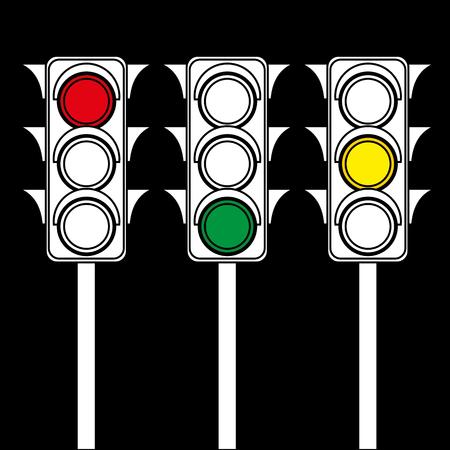 Traffic lights. Vector illustration Çizim