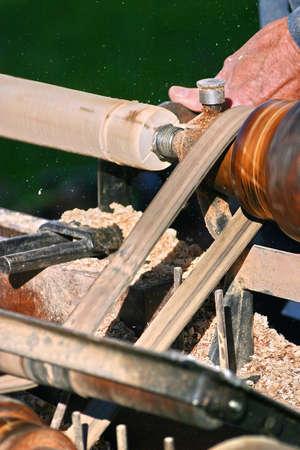 Wood lathe turning