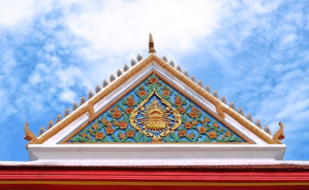 Traditional of Thai style on top part the temple, Thailand