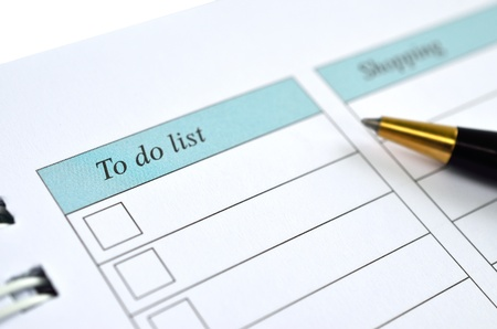 To do list on a notebook representing things to do when organizing a schedule photo