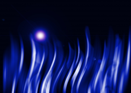 Blue aura light abstract on black background Stock Photo - 16327209