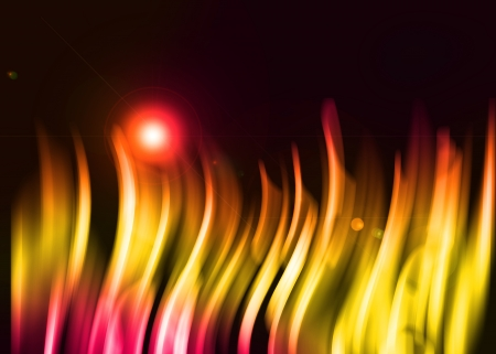 Yellow and red aura abstract on black background