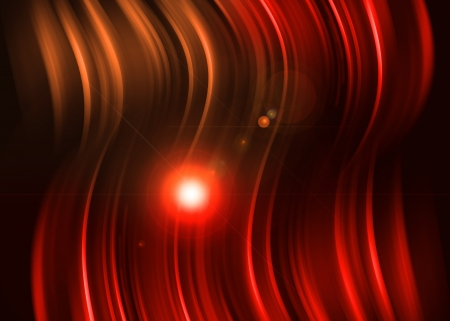 A luz vermelha abstrato sobre fundo preto