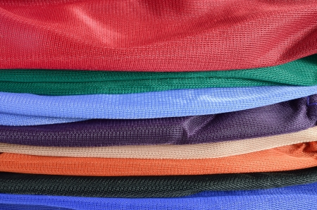 Pile of colorful folded clothes   photo