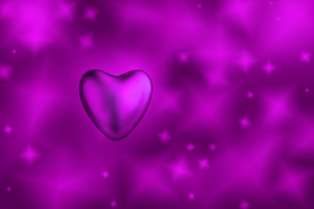 Violet heart, purple background photo