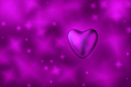 Purple heart, purple background photo