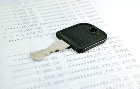A key on account passbook Stock Photo - 18454199