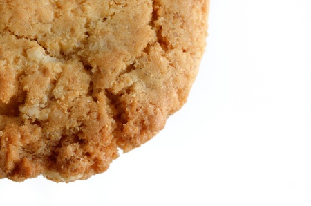 Oatmeal cookies on white background  photo