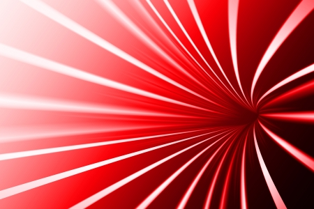 Abstract line, scarlet background
