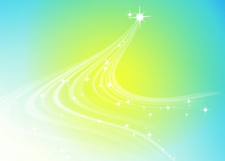 Abstract line glowing blue and yellow background photo