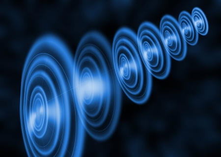 Blue round abstract background Stock Photo - 19140622