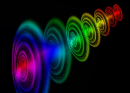 abstract colorful on dark background photo
