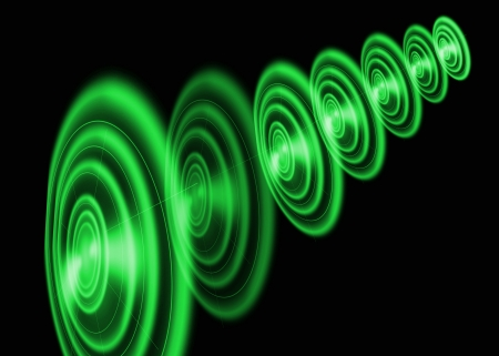 Green round abstract background Stock Photo - 19140623