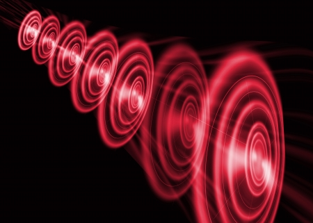 Round red abstract background Stock Photo - 19140629