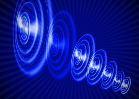 Round abstract blue background Stock Photo - 19140642