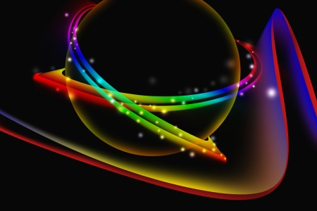 Colorful abstract glowing with dark background Stock Photo - 19292510