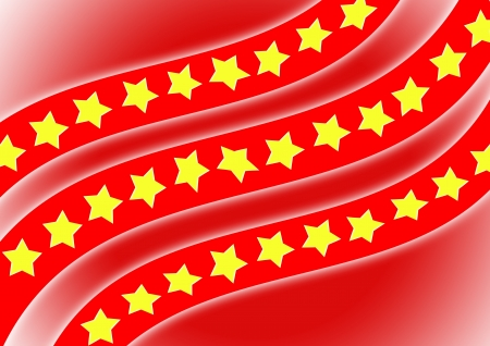 spangled: Flag, yellow star with red background