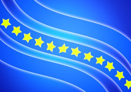 Flag, yellow star with blue background photo