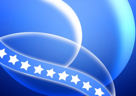 white star with curve blue background, flag photo