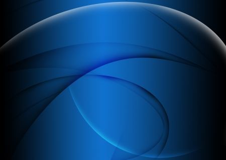abstract wavy and curve, blue background Stock Photo