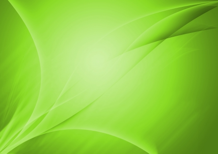 Green abstract lines curve background Stock Photo