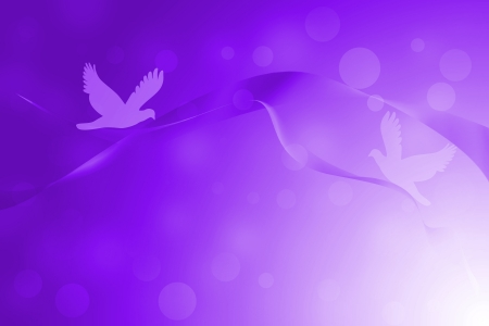 Purple abstract lines with glowing and bird background
