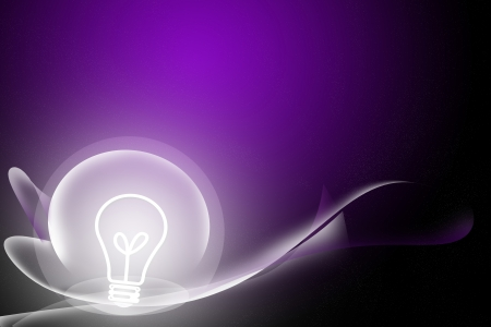 abstract curve and bulb purple background