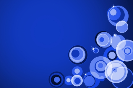 Abstract circle on bright blue background