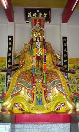 wish: Statue of Guan Yu God in chinese shrine, Thailand