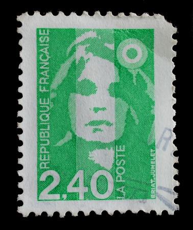 FRANÇA - CIRCA 1990: selo impresso na França mostra Briat jumelet, circa 1990
