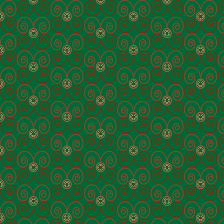 Seamless vintage pattern green background