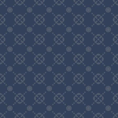 navy blue background: Seamless vintage pattern on navy blue background Stock Photo